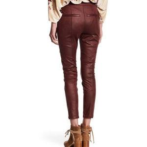 764021cf3ecef Free People Pants - Free People Oxblood Red Vegan Leather Leggings 31